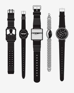 Watching watches illustration