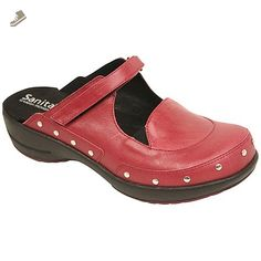Sanita Women's Sidsel Clogs,Red,35 M EU / 5 B(M) US - Sanita mules and clogs for women (*Amazon Partner-Link)