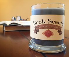 Nicholi- Book Inspired Candle - Hand Poured, 10 oz soy blend container candle