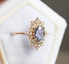 Vintage-Inspired Pastel Lavender Sapphire Ring - Praise