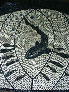 Fab pebble mosaic by Joel Baker - JULIA - A DEER? DO WE DARE?