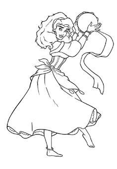 Princess Esmeralda Coloring Pages