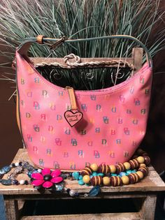 Vintage Dooney and Bourke Pink Jelly by Stylishiddentreasure