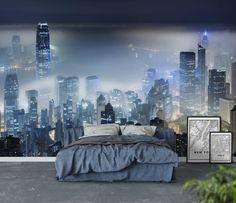 Hong Kong by night Tapet