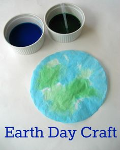 Earth Day Craft for Kids- Coffee Filter Earths from JDaniel4's Mom