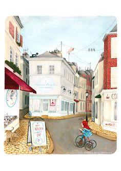 Linna in Paris - children book illustration ( Leo la Douce )