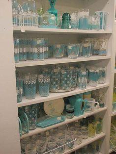 Photo: ~ ~ ~ ~ ~ ~ ~ My Farmhouse Love ~ ~ ~ ~ ~ ~   Farmhouse Vintage Pyrex Love ~  A Touch of Blue