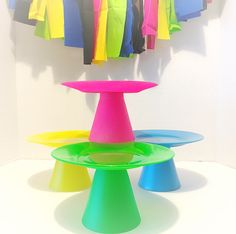 Mini cake stand, cupcake stand, smash cake stand, dessert stand, neon cake stand, cake pop stand by CocktailNConfettiCo on Etsy https://www.etsy.com/listing/467771180/mini-cake-stand-cupcake-stand-smash-cake
