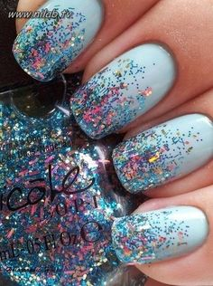 Glitter nails, have no idea why i never thought of this