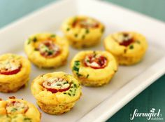 Mini Frittatas, perfect for a bite-sized brunch OR make over the weekend for a quick grab-and-go breakfast during the week! - from a farmgirl's dabbles