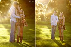 Couple Sun-Drenched Engagement Photograpy