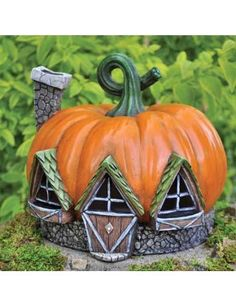 Amazon.com: Fairy Pumpkin Cottage Halloween House for Your Garden: Patio, Lawn & Garden