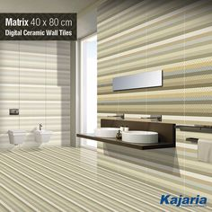 We always use the latest technologies to develop and create the latest designs. Matrix 40X80 cm Digital Ceramic Wall Tiles is one fine example of that. #KajariaCeramics