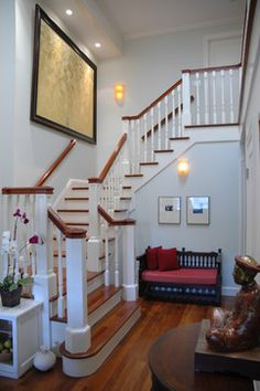 Entry Foyer - traditional - staircase - san francisco - ACANTHUS Architecture & Design, San Francisco, CA