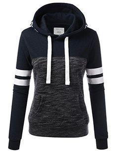 ASALWAYS Femmes Hoodies Multicolore /Énorme Chandail Arc en Ciel Attacher Sweat-Shirt
