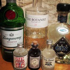 Und natürlich wird auch #Gin getestet :D  #tanqueray #Botanist #Bruichladdich #siegfried #monkey47 #steinhäuser #theduke