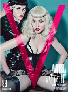 Celebrating the Power of Pop: Madonna and Katy Perry Cover 'V89′ Summer 2014