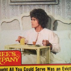 Threes Company Trading Card #32 Mrs Roper in Bed 1978 ABC Sticker 70s TV Show