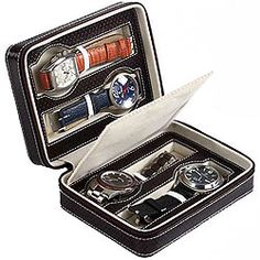 Genuine Leather Watch Case (for 4 watches) from Leather Talk to Kolkata, West Bengal Rs. 1980 / $ 33.00