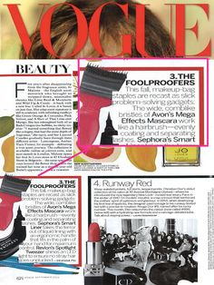 #MegaEffects Mascara was spotted in the September Issue of @Vogue Magazine!