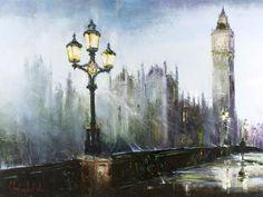Westminster by Gleb Goloubetski. black brown grey blue yellow white