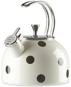 kate spade new york all in good taste Scatter Dot Tea Kettle - Kitchen Gadgets - Kitchen - Macy's