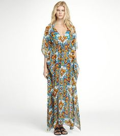 I'm getting all glam this summer in this Tory Burch caftan.