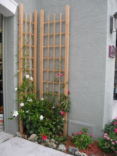 "Lattice for small space. Perfect for right side of my garage door...maybe with ""Lady Banks Rose"" climber"