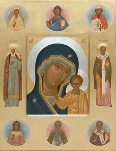 The icon painters of St Elisabeth Convent will paint a family icon of any kind. You can order an Orthodox family icon online from the Catalog of St Elisabeth Convent Religious Images, Religious Art, Roman Church, Roman Catholic, Blessed Mother Mary, Byzantine Icons, Orthodox Icons, Christian Art, Virgin Mary