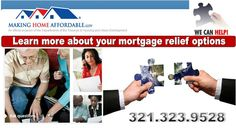 Learn about mortgage relief options and alternatives to foreclosure.
