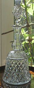 Cut Glass : A good quality Bell shaped crystal Decanter - 2 available