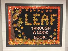 Fall library bulletin board