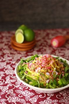 Asam Laksa Kerabu Salad with Chili Lime Dressing - Kerabu is a ...