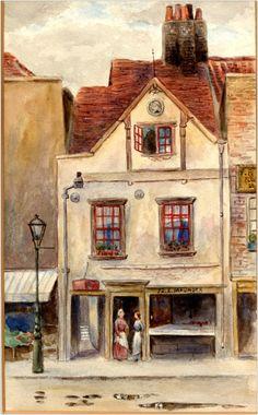 Philip Norman, 1905, Maunder's fish shop, 72 Cheyne Walk