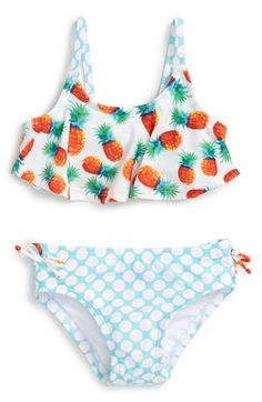 'Pineapple Disco' Two-Piece Swimsuit (Baby Girls)