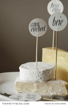 Say Cheese - cheeseboard tags | Printables | The Pretty Blog