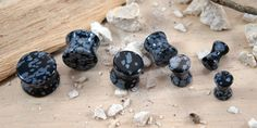 Hey, I found this really awesome Etsy listing at https://www.etsy.com/listing/183256277/black-snowflake-obsidian-double-flared
