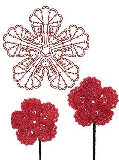No.19 Dianthus Crochet Flower Motifs / 패랭이 꽃 코바늘 플라워 모티브도안