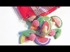 DIY Sour Cola, Sour Cherry, Wedges Candy Gummy Polymer Clay Tutorial by NerdECrafter