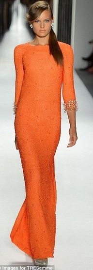 2013 Pantone Color | Nectarine - Jenny Packham - #weddings #bridal #designer #gown