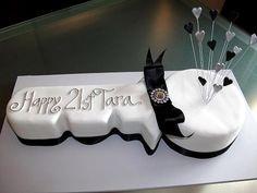 21st Birthday Key Cake | Chocolate and Vanilla marble cake. … | Flickr