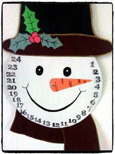 Bricolage de Noël: un calendrier de l& bonhomme de neige -, Christmas Activities, Christmas Crafts For Kids, Xmas Crafts, Christmas Projects, Kids Christmas, Christmas Decorations, Natal Diy, Navidad Diy, Theme Noel