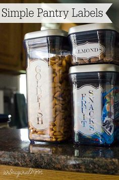 Simple Pantry Labels  made with your Silhouette