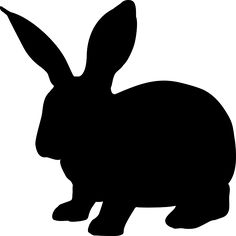 Free Image on Pixabay - Rabbit, Animal, Hare, Silhouette Rabbit Silhouette, Animal Silhouette, Silhouette Art, Stencil Animal, Free Pictures, Free Images, Animal Templates, Easter Crafts, Silhouettes