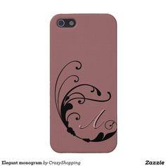 Elegant monogram iPhone 5 covers