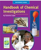 Handbook of Chemical Investigations is a reference book that students use to help plan, conduct, and understand their investigations. It includes sections on safety, materials, common and safe substances to investigate, evidence to observe, variables to change, and hints for choosing questions to investigate. Reference sections include information on atoms and molecules, chemical formulas, and a periodic table of elements.