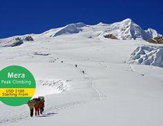 Mera Peak Climbing in Nepal. Mera is the highest trekking peak in Nepal.