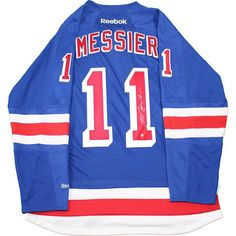 MARK MESSIER Hand Signed Blue New York Rangers Jersey STEINER - Game Day Legends