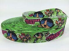 "BTY 7 8"" Powerpuff Girls Cartoon Printed Grosgrain Ribbon Hair Bows Lisa | eBay"