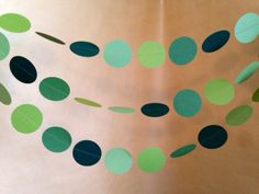Shades of Green  Paper Garland Christmas Party Decor, Photo Prop, Mantle Decor, Christmas Tree and Holiday Decor, Classroom Decor on Etsy, $8.25